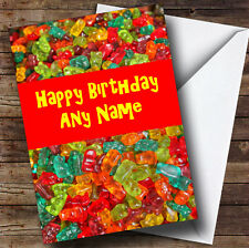 Gummy Bear Sweets Personalised Birthday Greetings Card