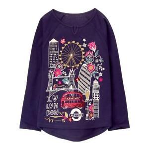 NWT Gymboree Ready Jet Go London Tee Shirt Top Girls 4,5/6,7/8
