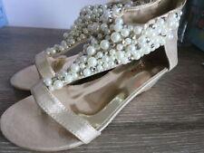 Bridal or Wedding Synthetic Wedge Heels for Women