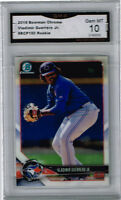 2018 Vladimir Guerrero Jr Bowman Chrome Rookie Gem Mint 10  #BCP150