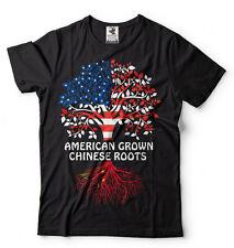 Chinese T-shirt Chinese Roots American Grown Tee Shirt China Tee Chinese Tshirt