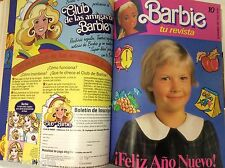 BARBIE MAGAZINE LOT VHTF LOTE DE REVISTAS BARBIE AÑOS 80  EN FORMATO LIBRO