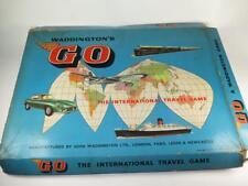 "Vintage Waddington's ""GO"" International Travel Game Boxed 1961"