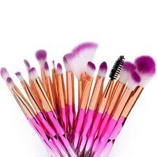 20PCS Brochas de Maquillaje Polvo Base Sombra de ojos Delineador Labio Pincel
