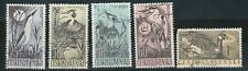 Czechoslovakia stamps. Five stamps, bird theme, Used, LH