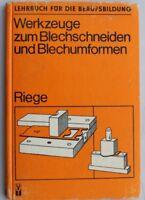 28673 Riege Attrezzi ad Un Blechschneiden E Blechumformen DDR 1982