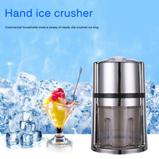 Manual Ice Crusher Hand Crank Ice Grinder Non-slip Base Portable Ice Chopper