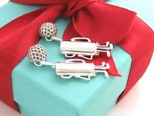 Tiffany & Co Silver Golf Bag Ball Cufflinks Cuff Links Link