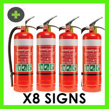Fire Extinguisher 4.5kg ABE4A:60B:E  x4 Units