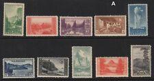 1934 National Parks Sc 740-9  MH  set of 10