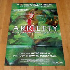 ARRIETTY manifesto poster Mondo Segreto Sotto il Pavimento Miyazaki Animazione