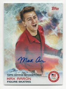 2014 Topps USA Olympic Team Authentic Autograph #1 Max Aaron Figure Skating