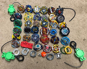 Huge Lot of Hasbro Beyblades Metal Launchers Ripcords Mixed Lot of 49