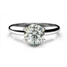 GIA Certified 1.00CT Natural Diamond Solitaire Engagement 14k Gold Ring J-VS2