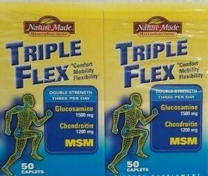Nature Made Triple Flex 100 Caplets glucosamine chondroitin +MSM