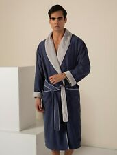 Men's Plush Lined Microfiber Warm Spa Robe - Luxury Hotel Spa Bathrobe for Men
