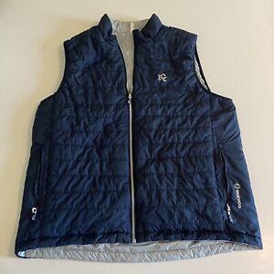 Sunice Mens L/XL Blue/Gray Reversible Puff Golf Vest Full Zip Multi Zip