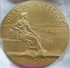 MED4824 - MEDAILLE TRAVERSEE DES PORTS MARSEILLE 1928 NATATION -G.MARTIN vermeil