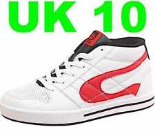 579872faba8a DuFFS Mens Skate Shoes White Black Red UK10 Skater Board Trainers Duff