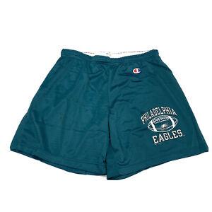 VTG Champion Philadelphia Eagles Green Athletic Workout Shorts Size Large