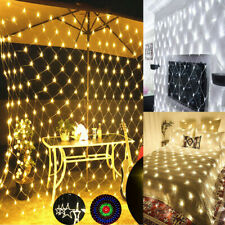 LED String Fairy Lights Curtain Mesh Net Christmas Party Garden Outdoor Plug In