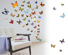 80pcs Removable Colorful Butterfly Wall Art Stickers Decal Mural Girl Room Decor