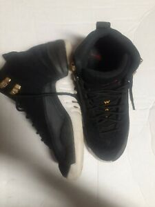 Nike Air Jordan 12 Retro GS Reverse Taxi Black White 153265 017 Sz 4.5Y