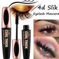 Black 4D Silk Fiber Eyelash Mascara Extension Makeup Waterproof Eye Lashes Kits