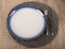 Set of 4 Large Oval 45cm Placemats Dining Place Settings Table Mats Woven Fabric
