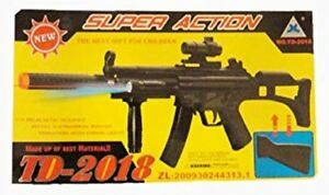 Kids Military Assault Rifle Toy Gun with Flashing Lights Sound Vibration TD2018