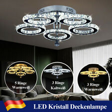 Kristall Deckenlampe LED Deckenleuchte Schlafzimmer Lampe Kronleuchter Lüster DE