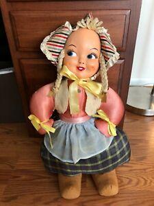 """Vintage plastic face Dutch doll 22"""""""