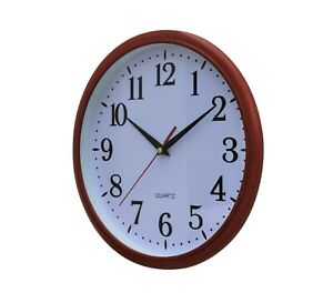 Wall Clock Kitchen School Office Home Shabby Chic Decor Quartz 30cm Rustic
