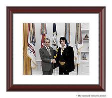Elvis Presley Richard Nixon King of Rock and Roll President color photo framed