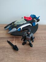 Imaginext Batman Plane and Batman figure.