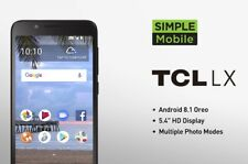"New Simple Mobile by T-mobile 5.3"" TCL LX PrePaid Phone 4G LTE 16GB 8MP Alcatel"