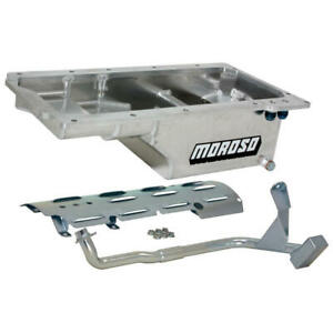 Moroso Engine Oil Pan 21150; Street/Strip Wet Sump 6.0 Quarts for Chevy SBC