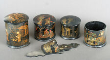 lot de boites Napoléon III  chinoises en carton bouilli