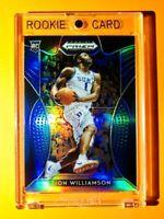 Zion Williamson RARE BLUE REFRACTOR ROOKIE PANINI PRIZM DRAFT PICKS RC #1 - Mint