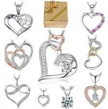 ❤️ Heart Pendant Necklace 925 Silver Heart Necklace Women's Necklace Gifts For