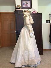Antique Victorian Silk Tea Gown Wedding Dress