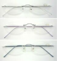 L47 Quality Womens' Rimless Graceful Reading Glasses/Spring Hinge Aluminum Arms
