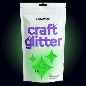 "Hemway Glow in The Dark Craft Glitter UV Neon Arts Crafts Tumblers 1/128"" 100g"