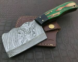 Handmade Axe-Damascus Steel Viking Axe-Camping-Outdoors-Leather Sheath-DH112