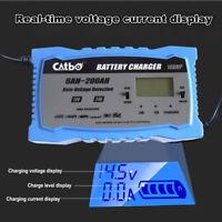 UK 10 Amp Car Battery Charger Intelligent Pulse Repair Jump Starter 12V 24V AGM