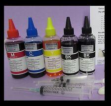 5 x100 ml kit inchiostro compatibile per ricarica cartucce lexmark