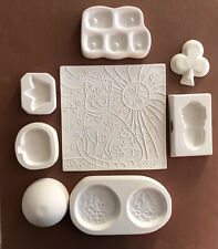 Fused Glass Casting & Slump Molds Lot of 8 - Great Deal!