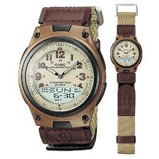 Casio AW-80V-5BV Brown Canvas Strap Digital Analog Sports Watch with Retail Box