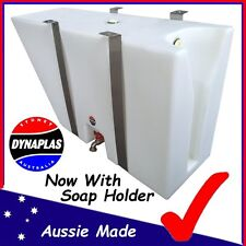 LARGE WHITE UTE UNDERBODY POLY TRAY TOP WATER TANK 50 LITRE 4X4 4WD SOAP HOLDER