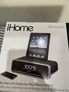 iHome iD91BZC Dual Alarm Stereo Clock Radio for iPhone/iPod/iPad w/FM Presets